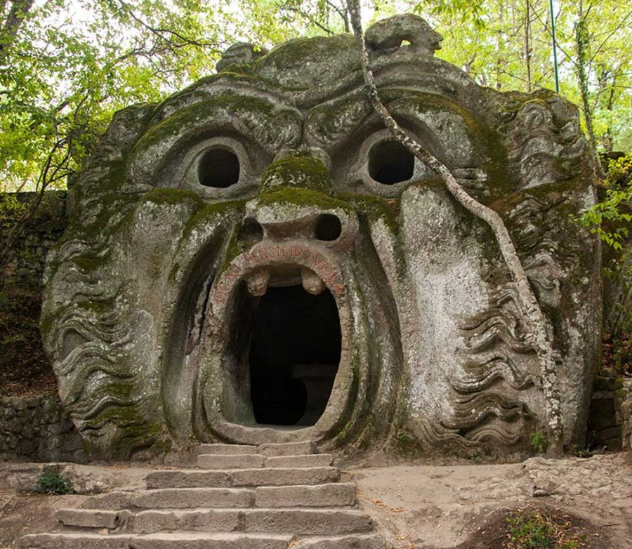 """Mouth of Hell"" sculpture at the Parco dei Mostri"